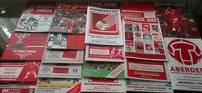 18/19 ABERDEEN HOME PROGRAMMES ( choose from the drop down list)