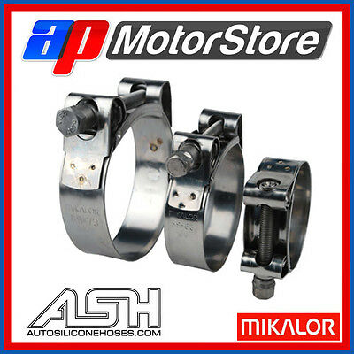 AutoSiliconeHoses 4 x 51mm 55mm W4 Stainless Steel T-Bolt Hose Clamps