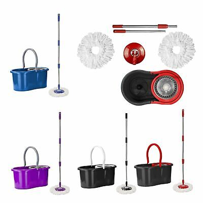 Microfiber Easy Cleaning Rotary 360 Spin Mop and Bucket Set Kitchen