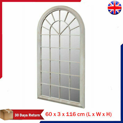 Rustic Arch Garden Gothic Mirror Light Home Window Wall Mirror Illusion Large