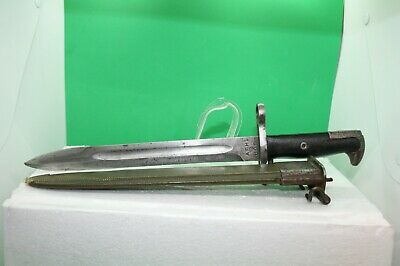 WWII Era US Army M1 Bayonet w/M7 Scabbard - Marked: AFH for M1 Garand Rifle #1