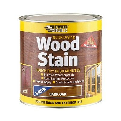 Everbuild EVBWSWN25L Quick Dry Wood Stain Satin Walnut 2.5 Litre