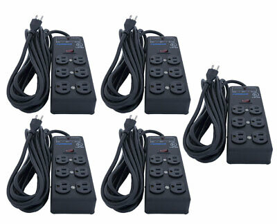 Furman SS-6B Surge Strip Power Block 6 Outlet 15ft Cord Extension 5-Pack