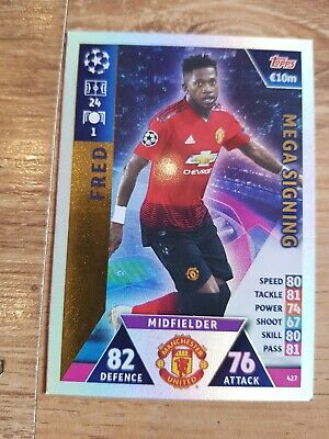FRED Match Attax CHAMPIONS LEAGUE 2018 2019 Mega Signing Card Manchester United