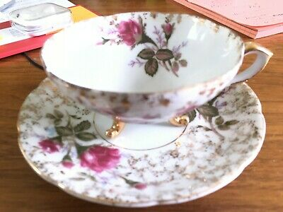 Original Napco China, tea cup and saucer, SD140C, great condition, hand painted