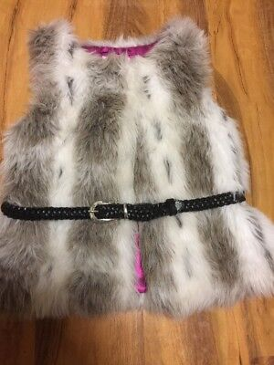 Butterfly Faux Fur Girls Gillet Aged 5 Years Old