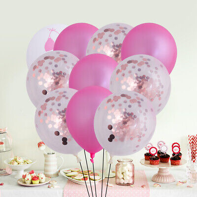 15pcs Printing Confetti Supplies Hawaii Party Balloon Set Decoration for Party