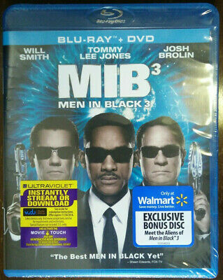 Men in Black 3 (Blu-ray/DVD, 2012, 2-Disc Set) Brand NEW