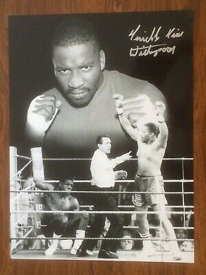 Hand Signed 16x12 photo TIM WITHERSPOON - HEAVYWEIGHT BOXING CHAMPION + my COA