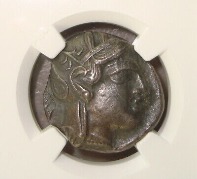 440-400 BC Attica, Athens Ancient Greek Silver Tetradrachm NGC XF 5/5 4/5