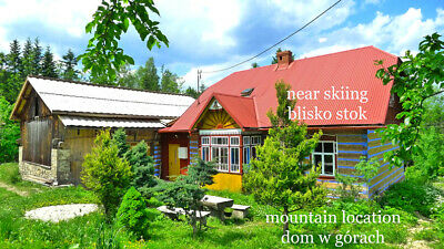 Amazing real LOG CABIN Farm in Polish mountains + Income + Building Land + SKI
