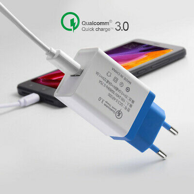 USB 3.0 Fast Charger Quick AC Power 5V 3A Mobile Phone Wall Home Travel Adapter