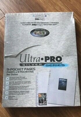 Ultra Pro Silver Series 9 Pocket Pages - 100 Pages Brand New Free P&P UK Seller