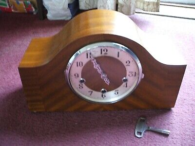 Enfield Vintage Late Art Deco 8 Day Westminster Chime Mantle Clock V G C 1950S