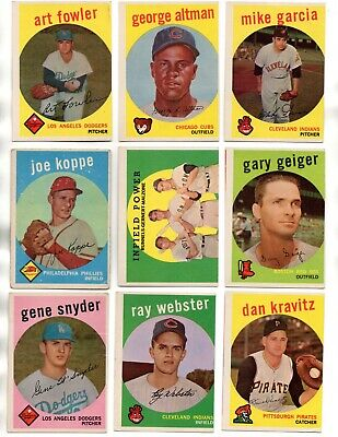 1959 Topps Baseball Vintage Singles - You Pick  $5 Each - High Numbers Vgex Ex