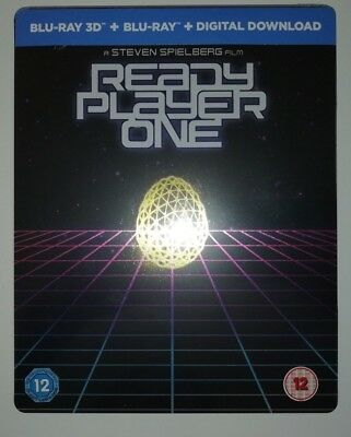 Ready Player One Steelbook 3D & 2D Blu Ray UK Edition New Sealed Mint Fast Post
