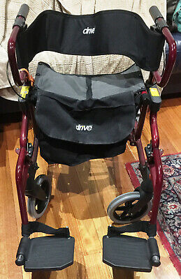 rollator wheelchair 2n1  red, light weight, almost new