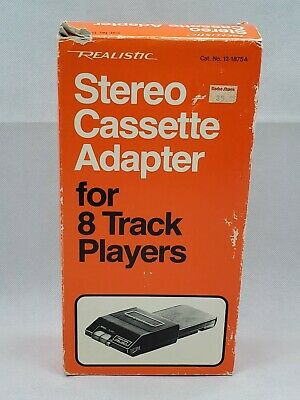 REALISTIC STEREO CASSETTE ADAPTER f/ 8 TRACK TAPE PLAYER