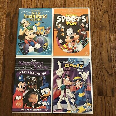 Walt Disneys Classic Cartoon Favorites Sing Along Songs DVD LOT Goofy Small