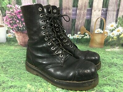 9907fc0094437 VINTAGE DR MARTENS Steel Toe Leather Combat Boots Men's 7 US Made in England