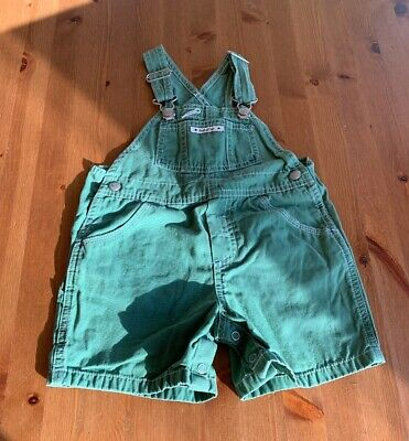 Baby Gap Boys 18-24M Green One Pc Short Overalls