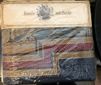 VTG -LOUIS NICHOLE *Italianato - KING FLAT SHEET* - NOS Sealed Pkg
