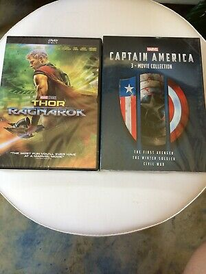 Thor Ragnarok + Captain America 3 Movie Set Collection NEW SEALED 4 Movies Total