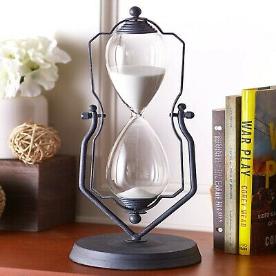 KSMA 60 Minutes Metal Hourglass,1917 Vintage One Hour Glass Timer with Sand
