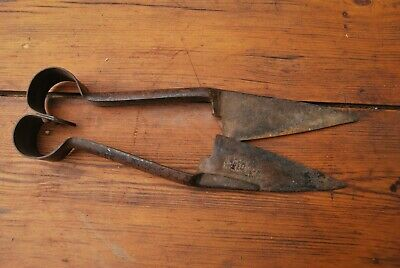 Antique iron shears Hind's Patent Made in England