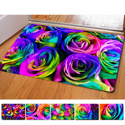 Multi Floral Printed Rectangular Mat 40*60cm Entrance Doormats Floor Bathroom