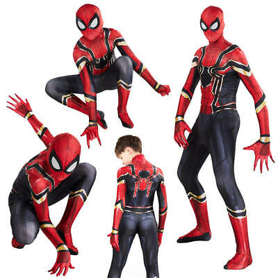 Spider-Man Homecoming Costume Iron Spiderman Cosplay Superhero Fancy Jumpsuit AU