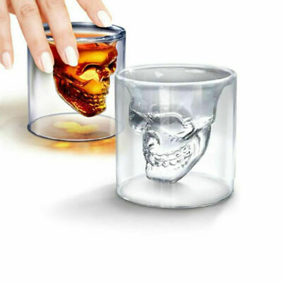 Crystal Skull Head Vodka Shot Whiskey Wine Drinking Cup Glass Lovely Decant I5C1