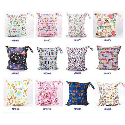 1PC Baby Diapers Nappy Bag Wet Dry Bag Waterproof Liner with Handle Two Pockets