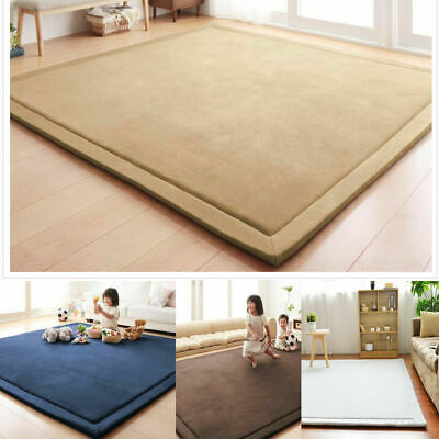 Large Shaggy Floor Rug Plain Soft Area Mat Children crawling mat Game Yoga map