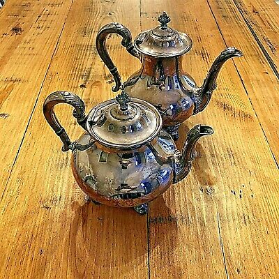 Antique Reed & Barton 5600 Regent Silver Plated Teapot 2 Piece • Rare Collection