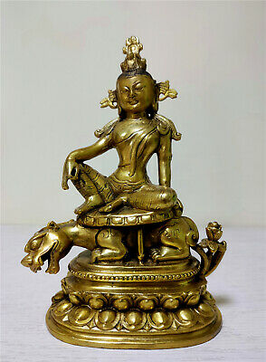 Antiques bronze buddha God beast Tara Lucky antique Buddhism carved old statue