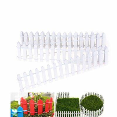 WHITE PICKET FENCE for Fairy Gardens Model Railroad or Doll House Scenery