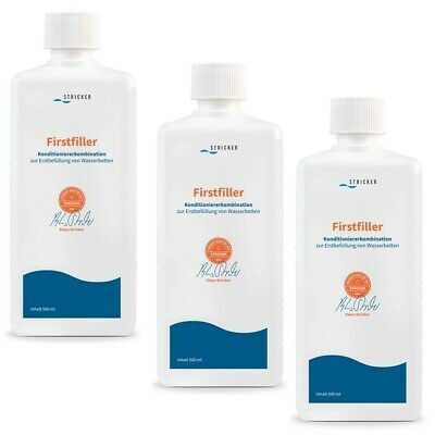Wasserbett Conditioner Firstfiller Erstbefüllung Konditionierer Stricker 3x 0,5l