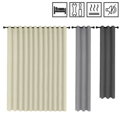 Blackout Curtains Eyelet Curtain Polyester Thermal-curtains Opaque Darkening  DE