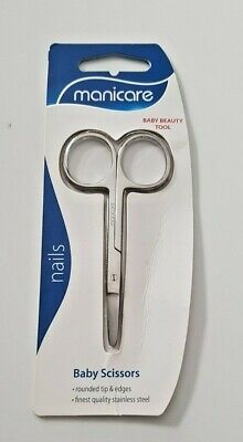 Manicare Nails Baby Safety Scissors Rounded Tip Finest Quality Stainless Steel