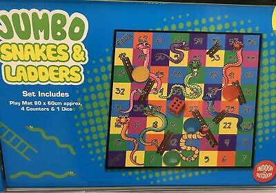 New Giant Snakes. And Ladders Board Game Summer Garden Outside Play