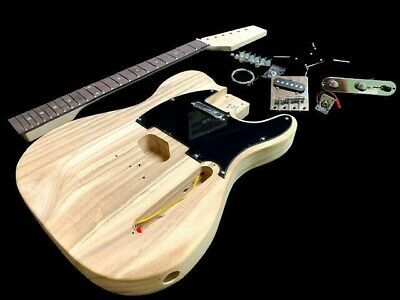 New 6 String Tele Style Electric Guitar Project Builder Quality Lightweight Kit