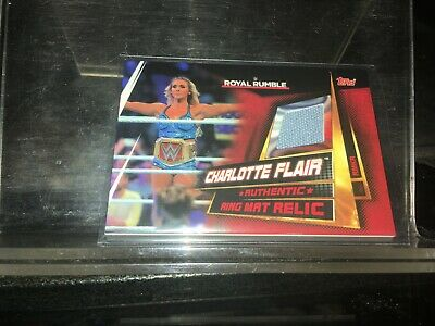 Topps WWE Slam Attax Universe Ring Mat Relic Card  Charlotte Flair woooo