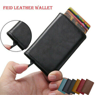 Anti-theft Tactical Wallet RFID Blocking Leather Wallet Purse Money Card Holder