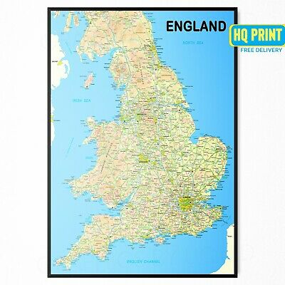 A0 A1 A2 A3 A4 Sizes Detailed Map Of London Boroughs Giant Poster Print