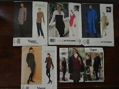 5Vtg 90s Vogue American Designer GEOFFREY BEENE Bill Blass Sizes 18-24 Uncut