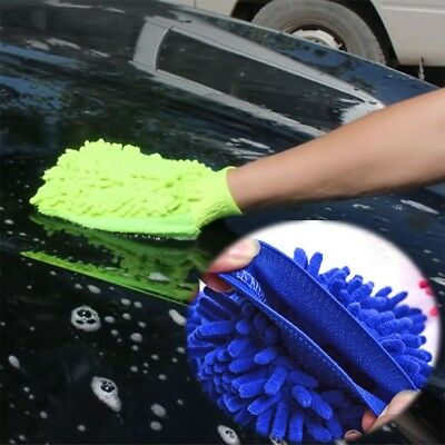 Car Glove Cloth Mitt Household Kitchen Wash Cleaning Super Chenille Microfiber