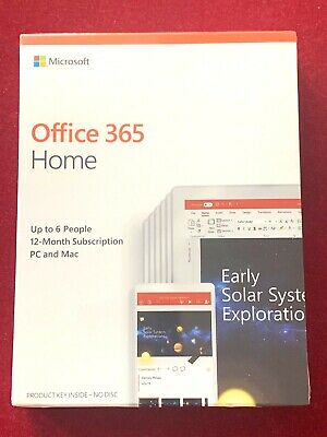 Microsoft Office 365 Home 1 Year Subscription for 6 Users