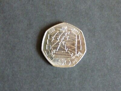 1992/1993 Dual Date UK PRESIDENCY of EU,Large Old Style 50p Coin,Very Rare.