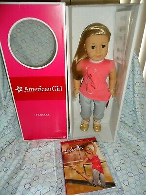 """American Girl  ISABELLE DOLL 18"""" Meet OUTFIT Book Pink Hair piece"""